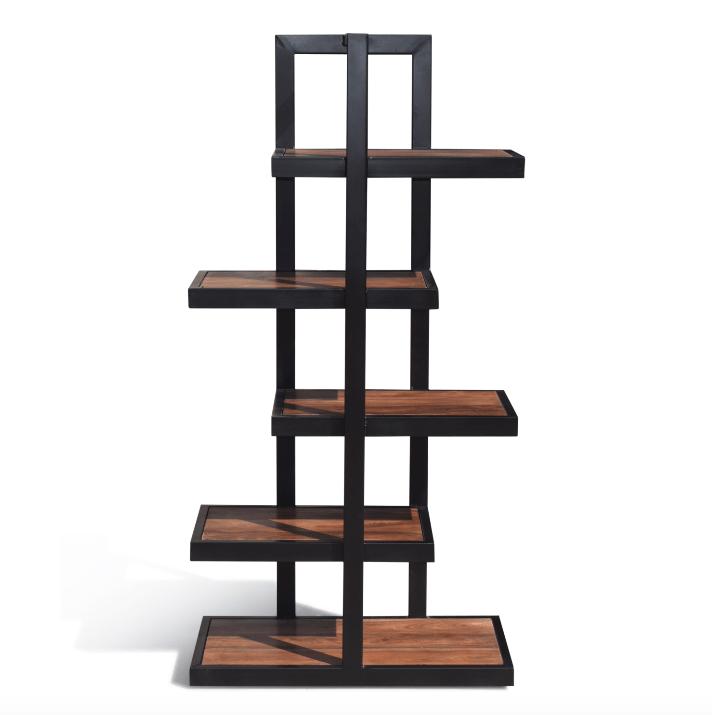 etagère salon bois