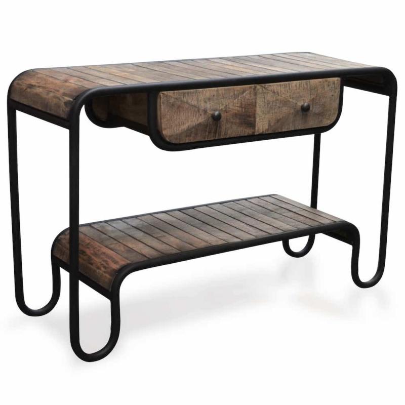 meuble console bois